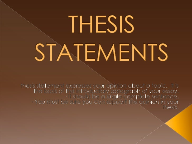 question thesis statement