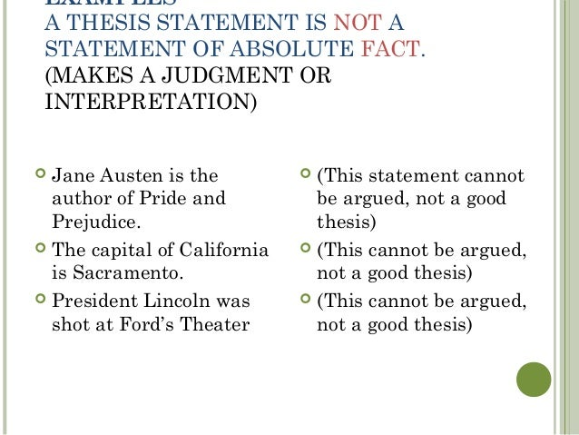 thesis statements 10 examples a thesis