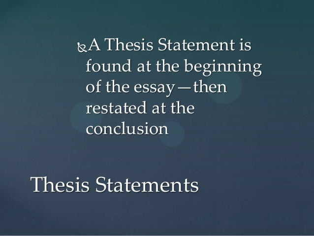 three things that an effective thesis statement should do The thesis statement is the center around which the rest of your paper revolves it  is a  here are two ways your thesis can help you figure out what to do next:.