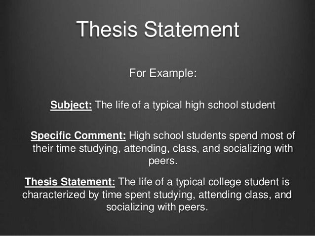 thesis statements and essay maps