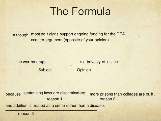 thesis statement on war on drugs