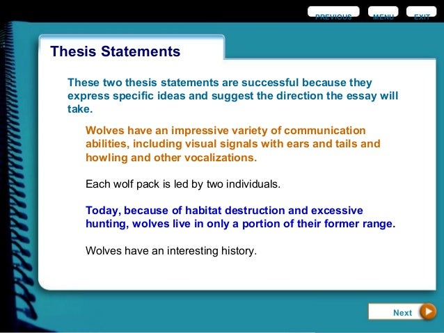 ideas for thesis statements