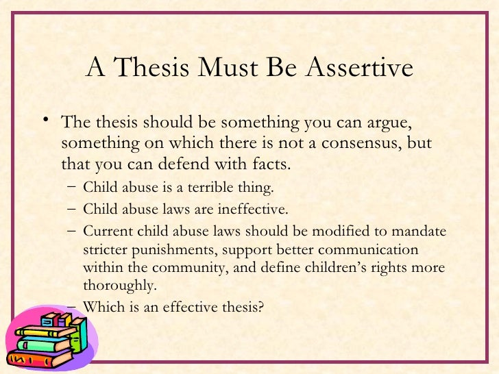 Thesis statements about child abuse