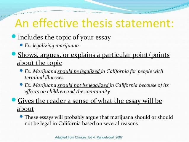Thesis statement ex