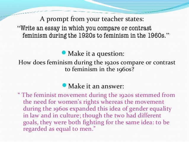 Women's rights thesis statement