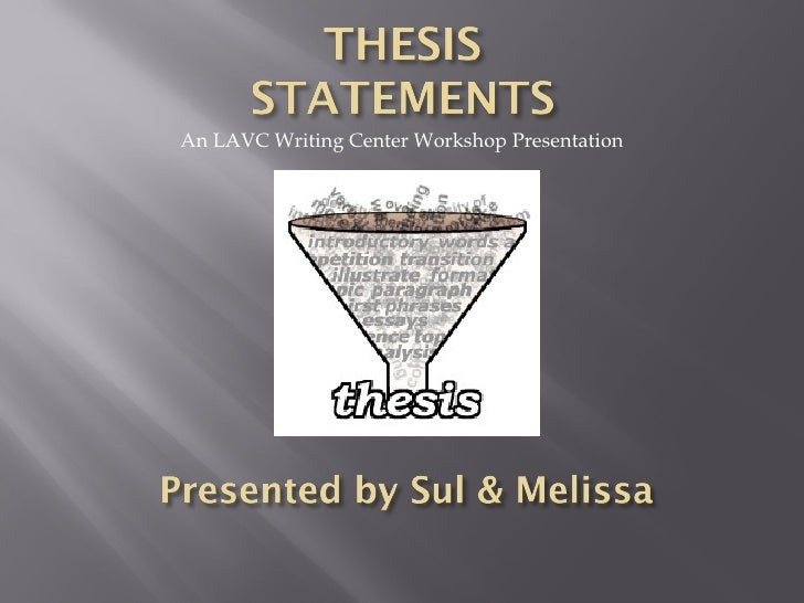 Developing a thesis worksheet