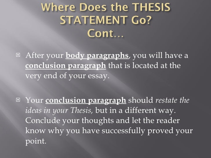 thesis workshop Thesis statement workshop have each group member read his/her thesis aloud and answer each question about his/her statement do not discuss the thesis until everyone.