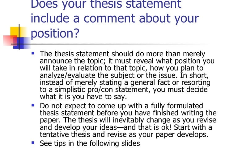 how to start a thesis statement