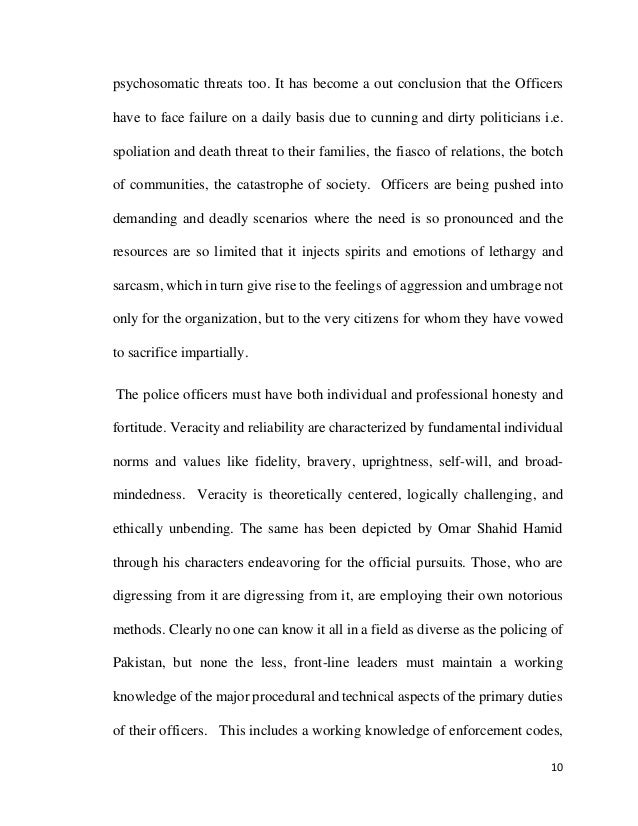 thesis on crime in pakistan
