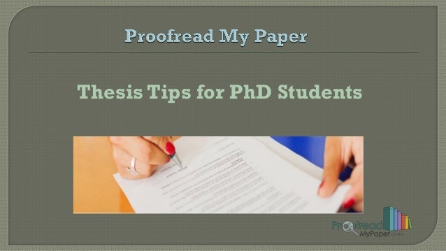Phd thesis strategy