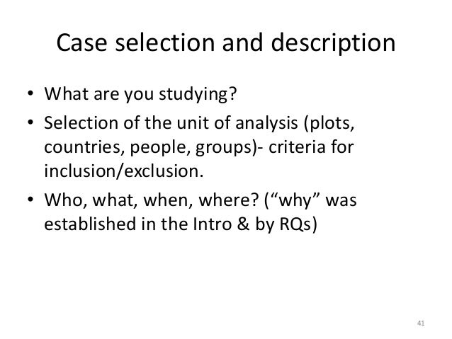 Dissertation exclusion in research