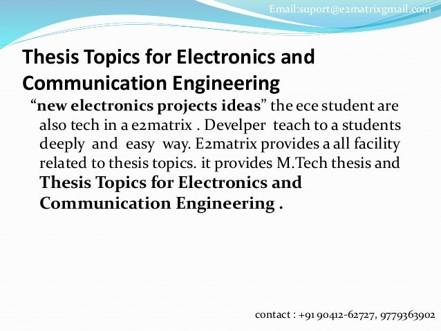 Phd thesis communication engineering