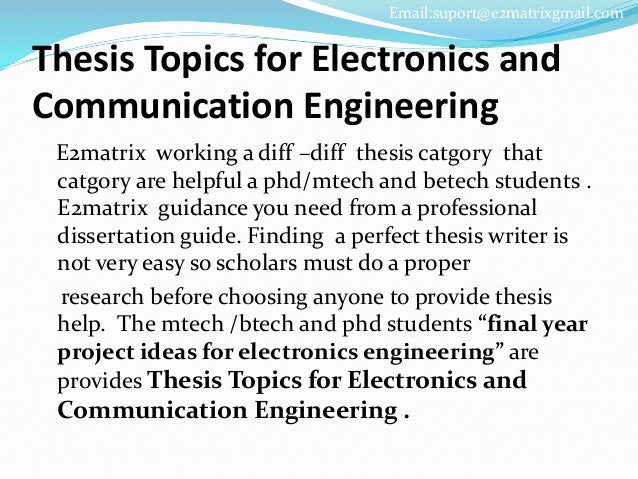 Phd thesis in communication engineering