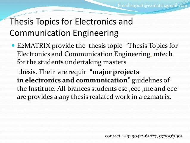 possible thesis topics for ece