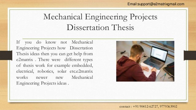 Phd thesis of mechanical engineering