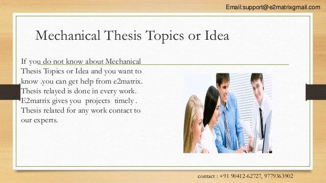 Phd thesis mechanical engineering