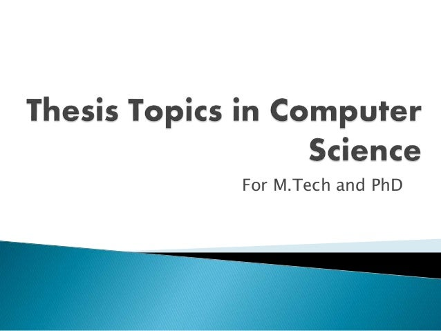 Phd computer science thesis