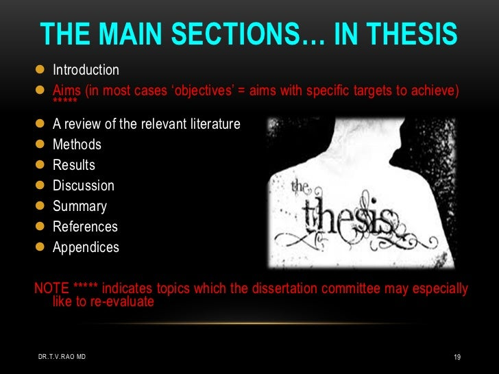 main sections of a dissertation Tips on how to write a good thesis paper before starting to write a thesis paper every candidate should learn the main parts that every thesis should include.