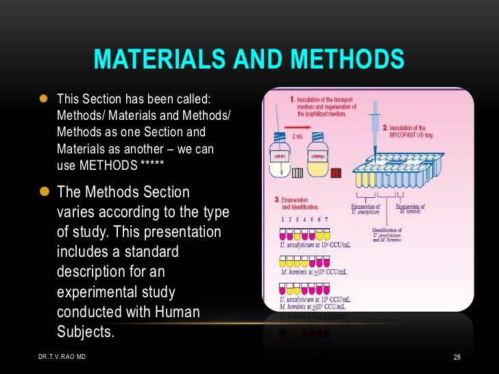 Materials and methods in thesis