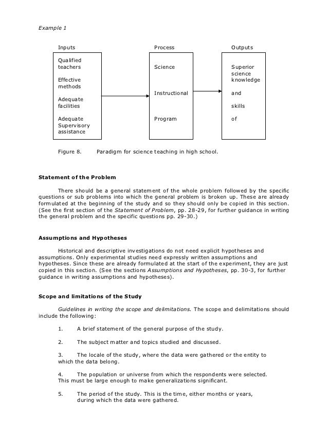 example thesis proposal education
