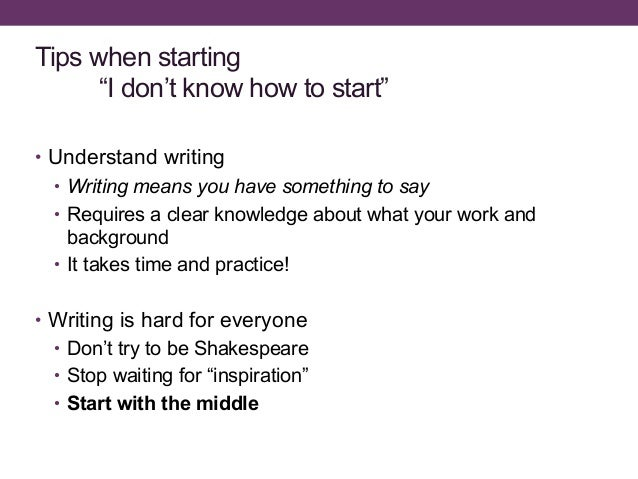 How to start writing your dissertation