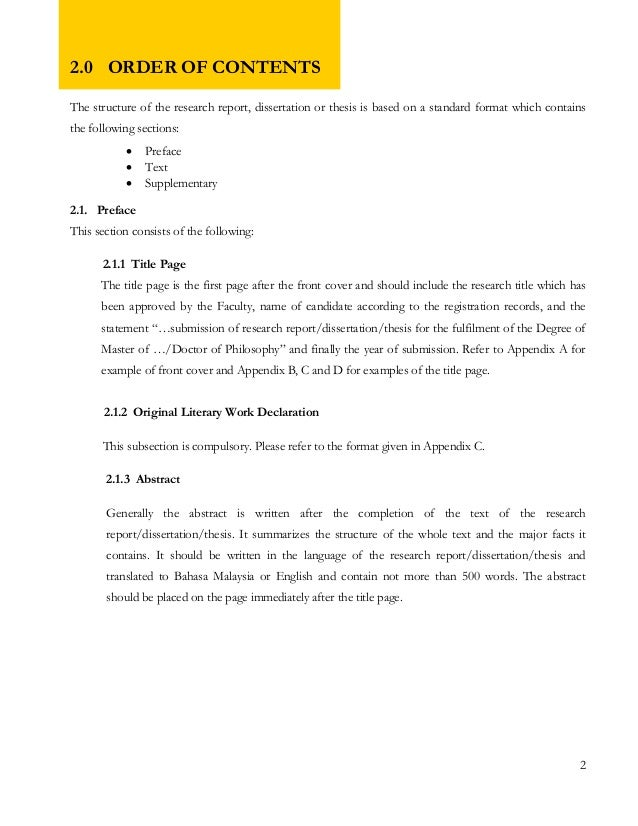 apa content page format