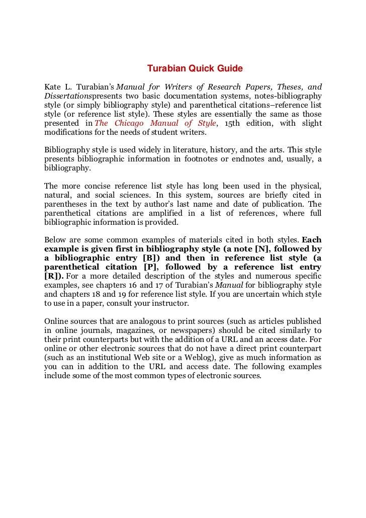 thesis writing guide rh slideshare net chicago turabian citation quick guide turabian quick guide liberty