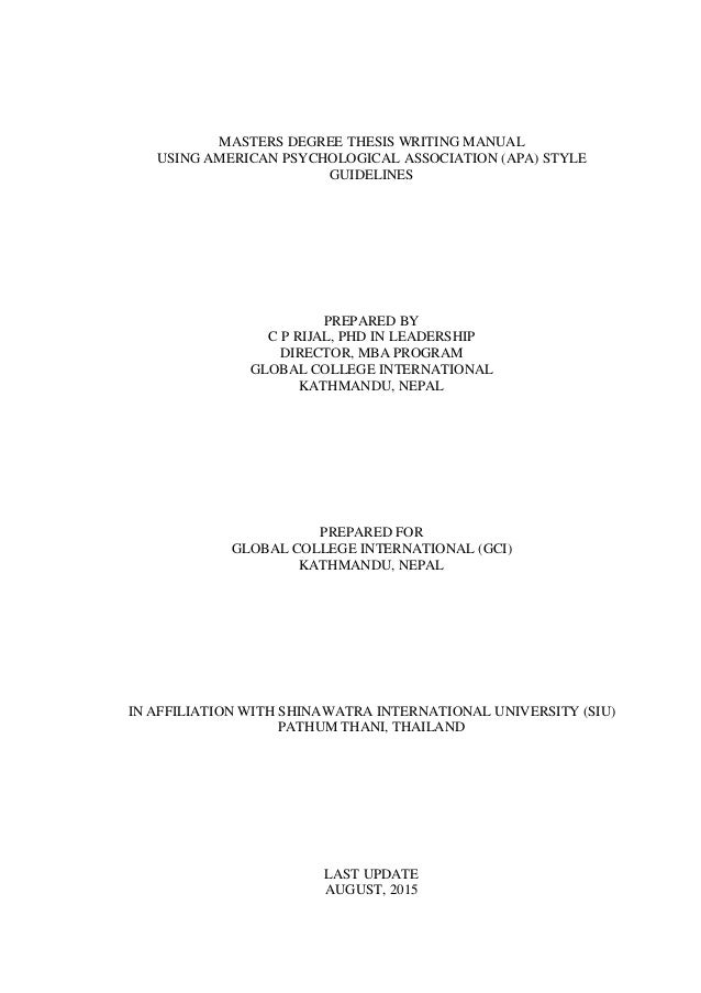 Masters level thesis in family mediation