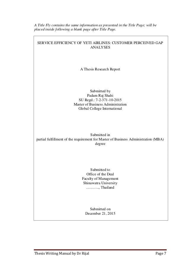 Thesis Title Template