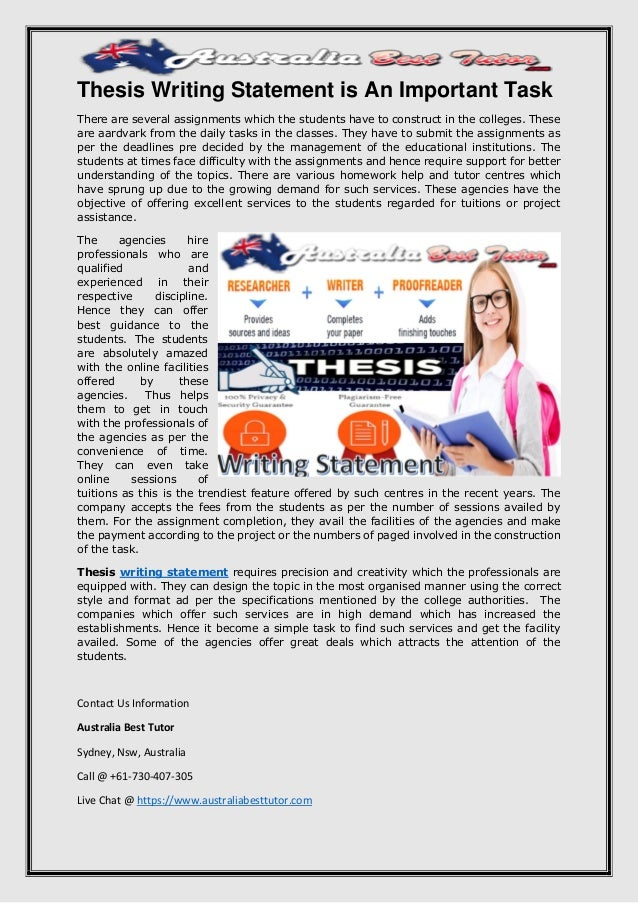 why is it important to have a thesis statement What is a thesis statement your thesis statement is one of the most important parts of your paper it expresses your main argument succinctly and explains why your argument is historically significant.