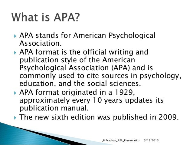 writing formats apa