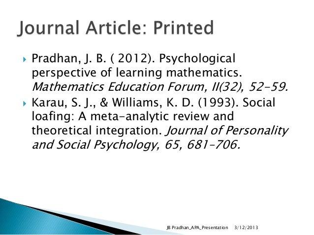 thesis writing using apa format