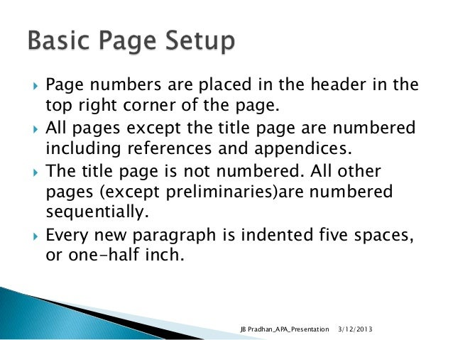 pages apa format