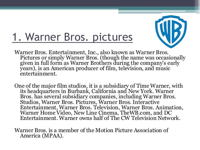 The six big film companies