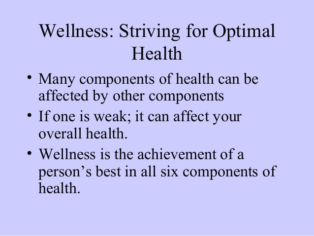 why the six elements of health Why the six elements of health are important why the six components of health are important taking care of the human body and soul and maintaining a healthy lifestyle leads to having a.