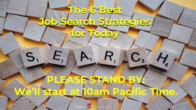 The Six Most Effective Job Search Strategies Eparachute Webinar 20