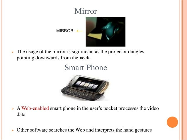 the sixth sense technology complete ppt 7 mirror the