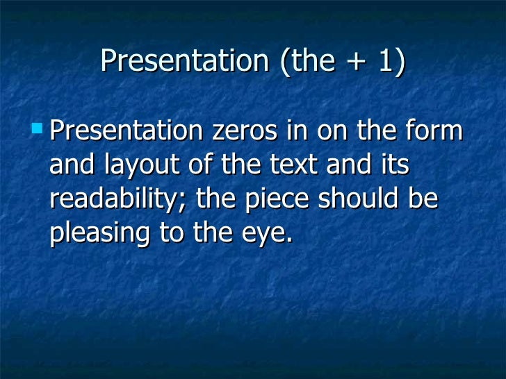 The Six Traits Of Writing Powerpoint For Training