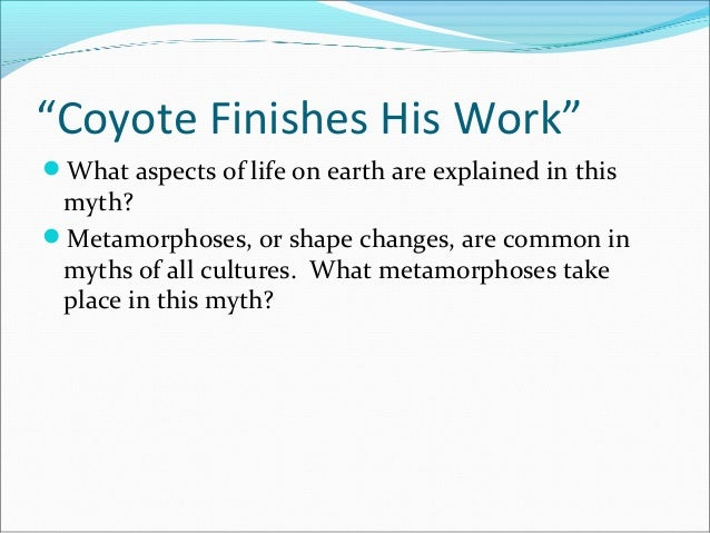 coyote finishes his work