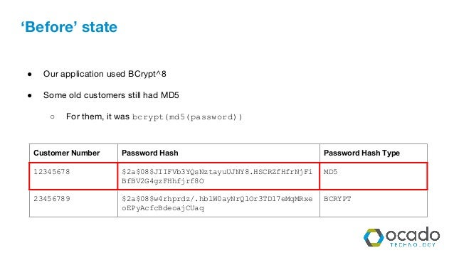 The slower the stronger a story of password hash migration
