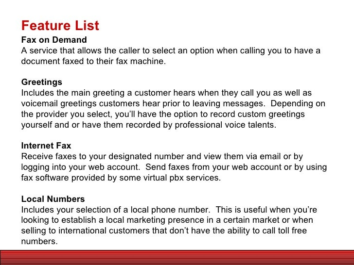 The small business guide to virtual pbx system features feature list 6 m4hsunfo Choice Image