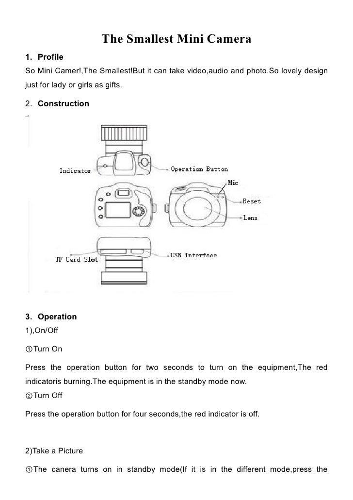 the smallest mini camera user manual rh slideshare net Mini DV 1280X960 Pixels Manual manual mini camera dv em portugues