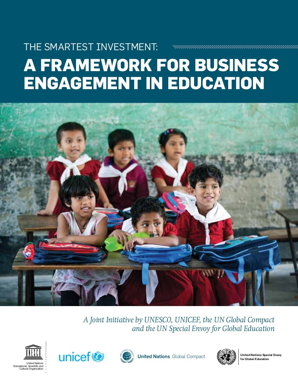 The smartest investment: a framework for business engagement in education