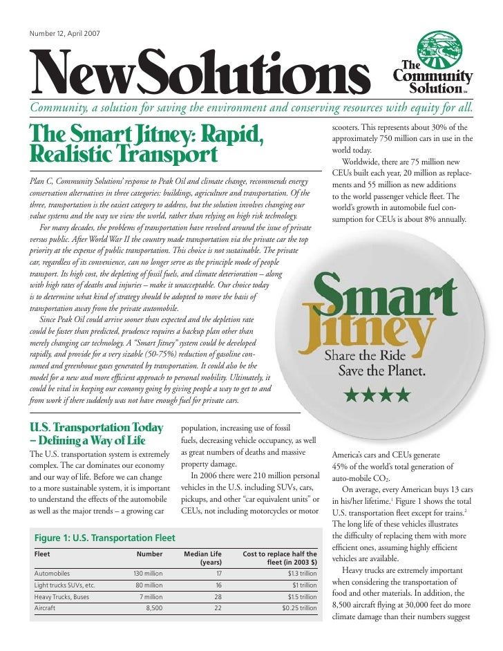 NewSolutionsNumber 12, April 2007Community, a solution for saving the environment and conserving resources with equity for...