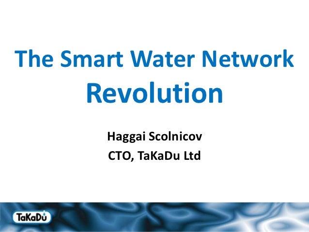 The Smart Water Network     Revolution       Haggai Scolnicov       CTO, TaKaDu Ltd                          1