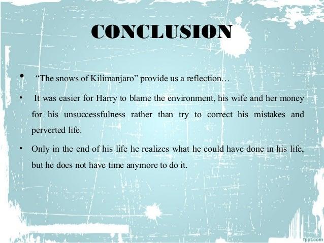 the snows of kilimanjaro summary and analysis