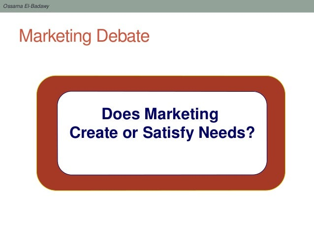 does marketing create needs and wants Marketing, the process of planning, pricing, promoting, selling, and distributing  ideas, goods, or services to create exchanges that satisfy customers goods,  tangible items that have monetary value and satisfy your needs and wants  services  place utility, having a product where customers can buy it time  utility, having.