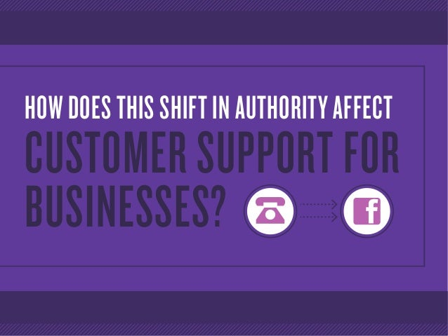 HOW DOES THIS SHIFT IN AUTHORITY AFFECT CUSTOMER SUPPORT FOR BUSINESSES?