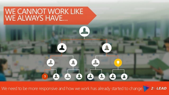 #worklikeanetwork WE CANNOT WORK LIKE WE ALWAYS HAVE… We need to be more responsive and how we work has already started to...