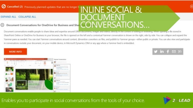 @RHARBRIDGE Enables you to participate in social conversations from the tools of your choice. INLINE SOCIAL & DOCUMENT CON...